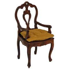 Louis XVI Style Carved Walnut Child's Chair