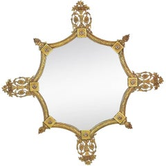 French Style Brass Hanging Wall Mirror