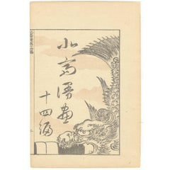 Hokusai 19th Century Ukiyo-e Japanese Woodblock Print Manga