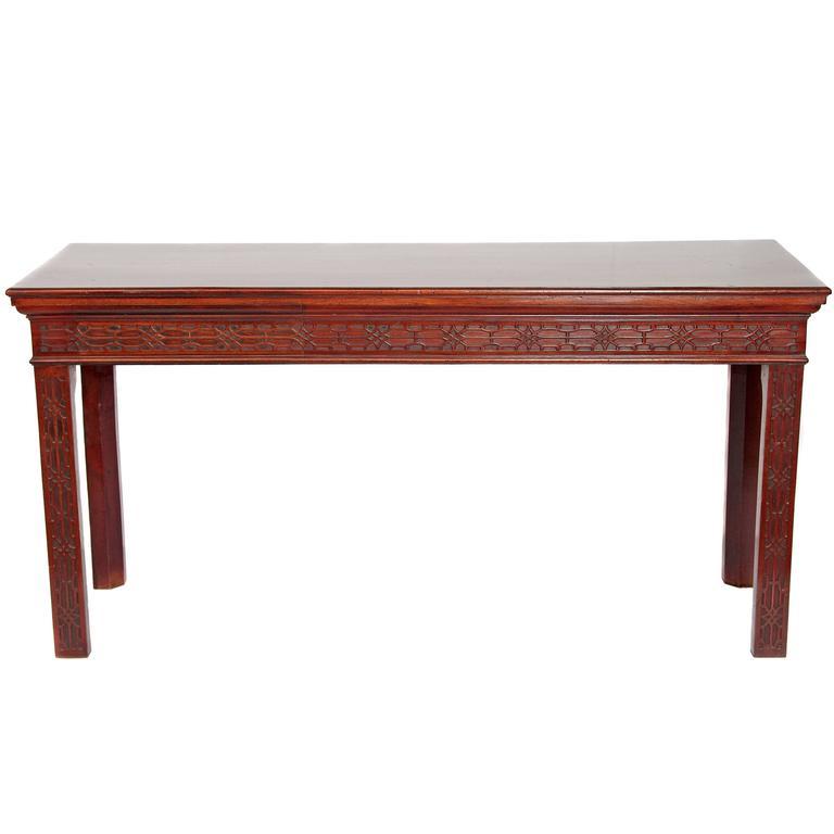 George III Mahogany Side Table 1