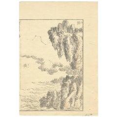 Hokusai Landscape 19th Century Ukiyo-e Japanese Woodblock Print Manga