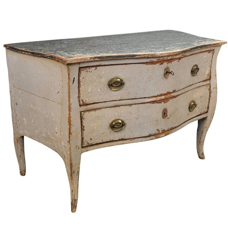 French Mid-19th Century Painted Commode For Sale