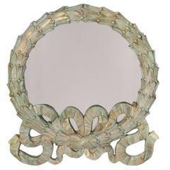 Laurel Wreath Verdigris Mirror