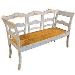 19th Century Painted Spanish Bench