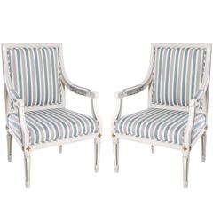 Newly Upholstered Gustavian Armchairs