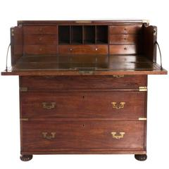 19th Century Secretaire Campaign Chest