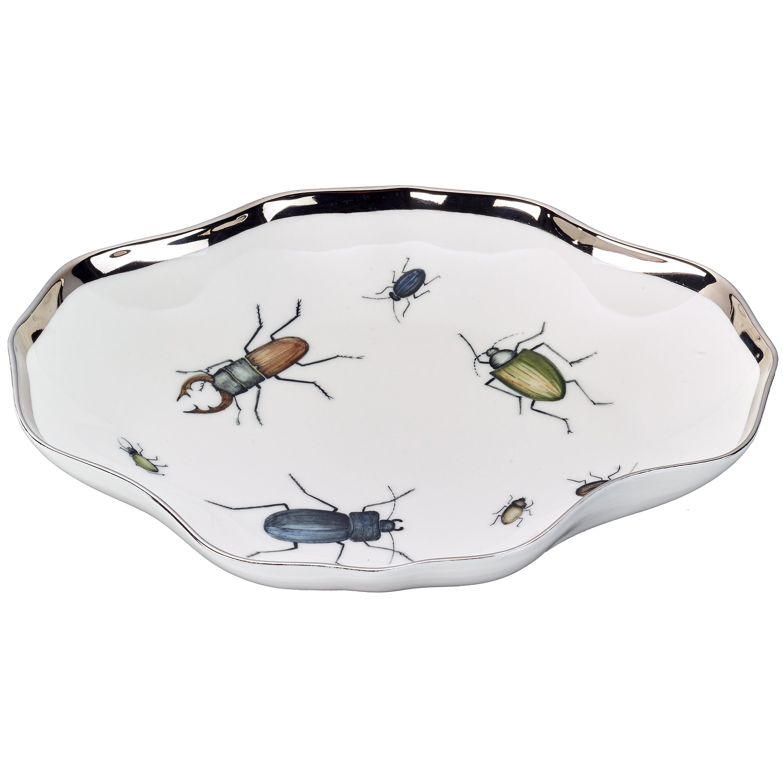 Modern Porcelain Dish with Beetles Sofina Boutique Kitzbuehel