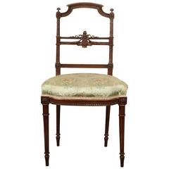 Early 20th Century Carved Walnut Accent Chair