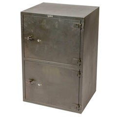 1900 English Steel Cabinet with Two Doors