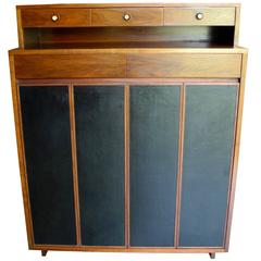 Modern Gentleman's Chest or Dresser in Walnut, Paul McCobb for H Sacks and Sons