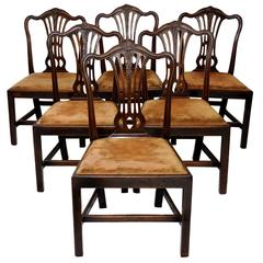 Set of Six English George III Chippendale Style Dining Chairs, circa 1760