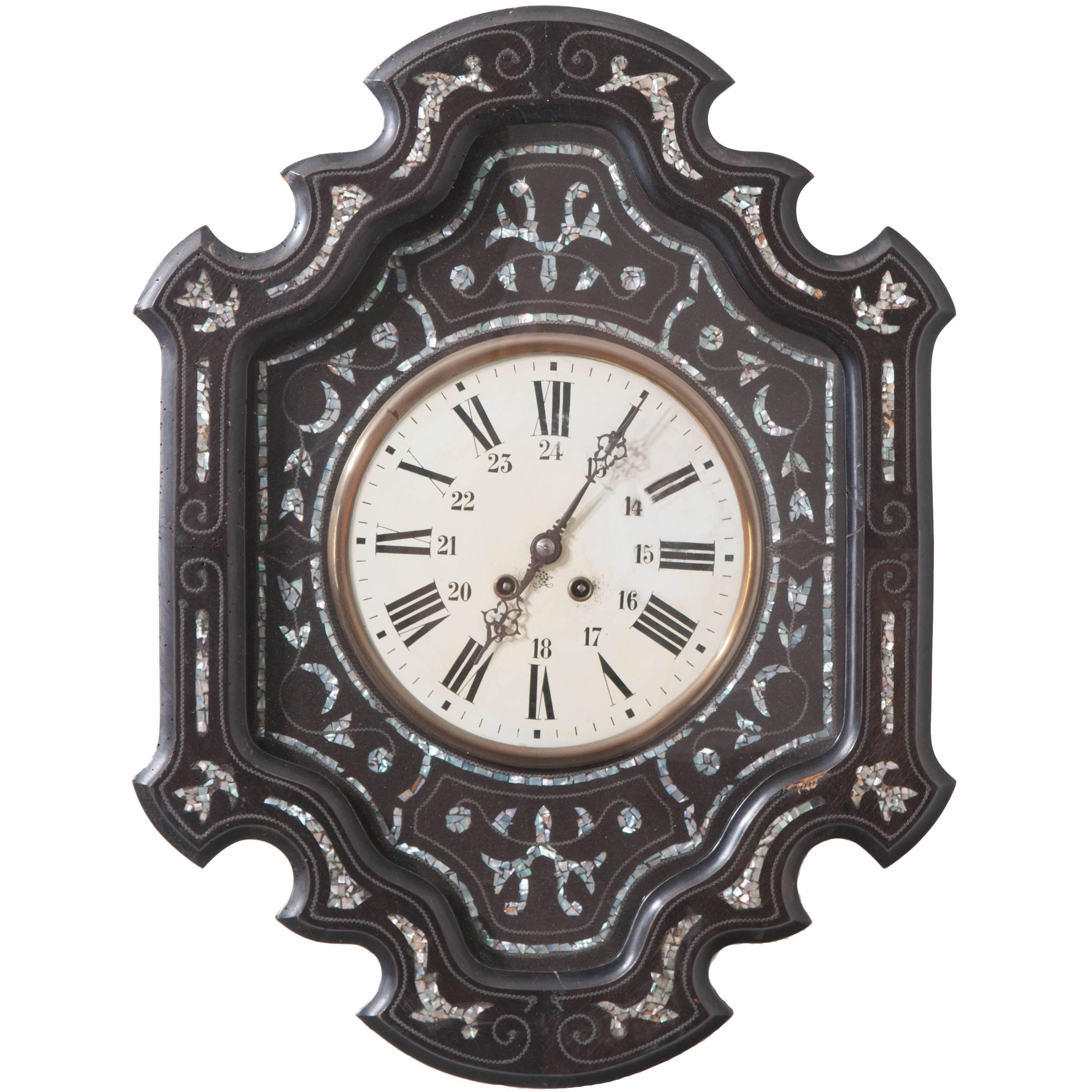 French 19th Century Napoleon III Wall Clock