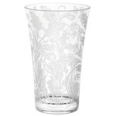 "20th Century Crystal Etched Vase ""Marly"" By, Christofle Silver France"