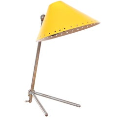 Yellow Pinocchio Lamp by H. Busquet for Hala Zeist, Netherlands