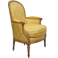 Louis XV Style Bergere Chair, French, Late 19th to Early 20th Century