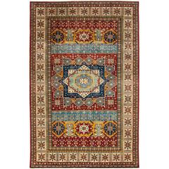 Red Kazak Style Area Rug, Solo Rugs