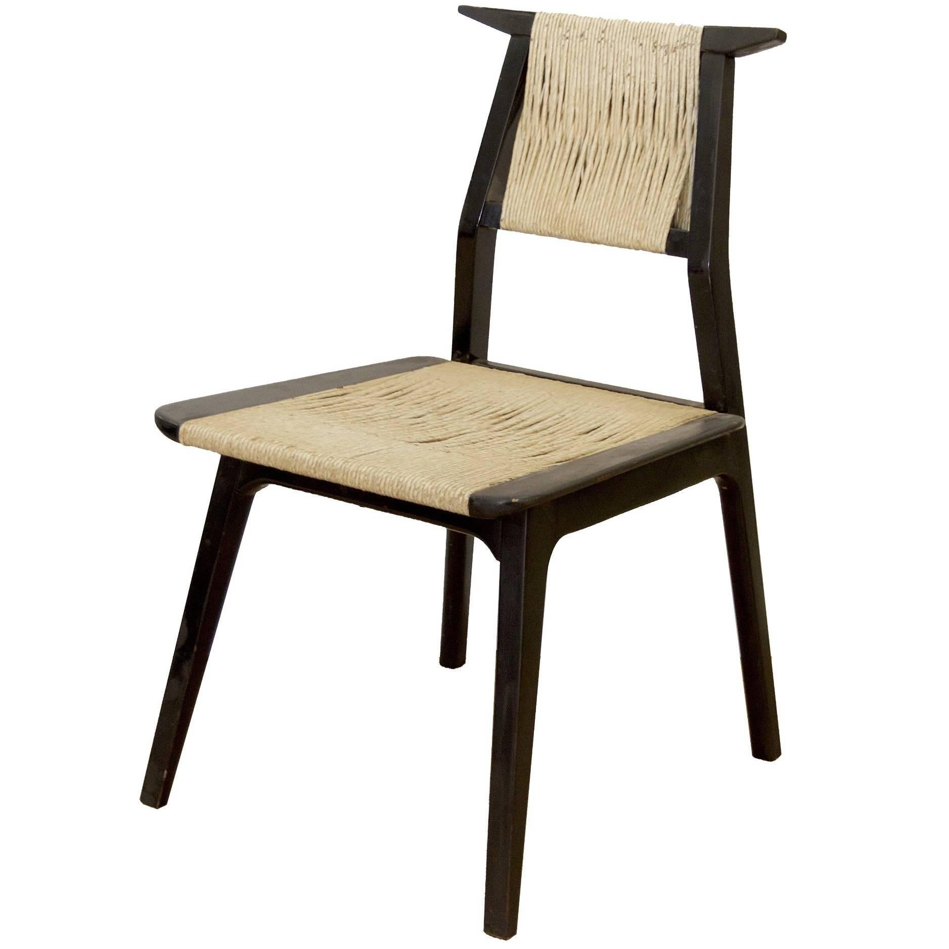 Unusual Danish Cord Wrap Chair For Sale