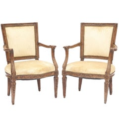 Pair of 18th Century Italian Armchairs