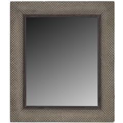 Modernist Basketweave Style Mirror