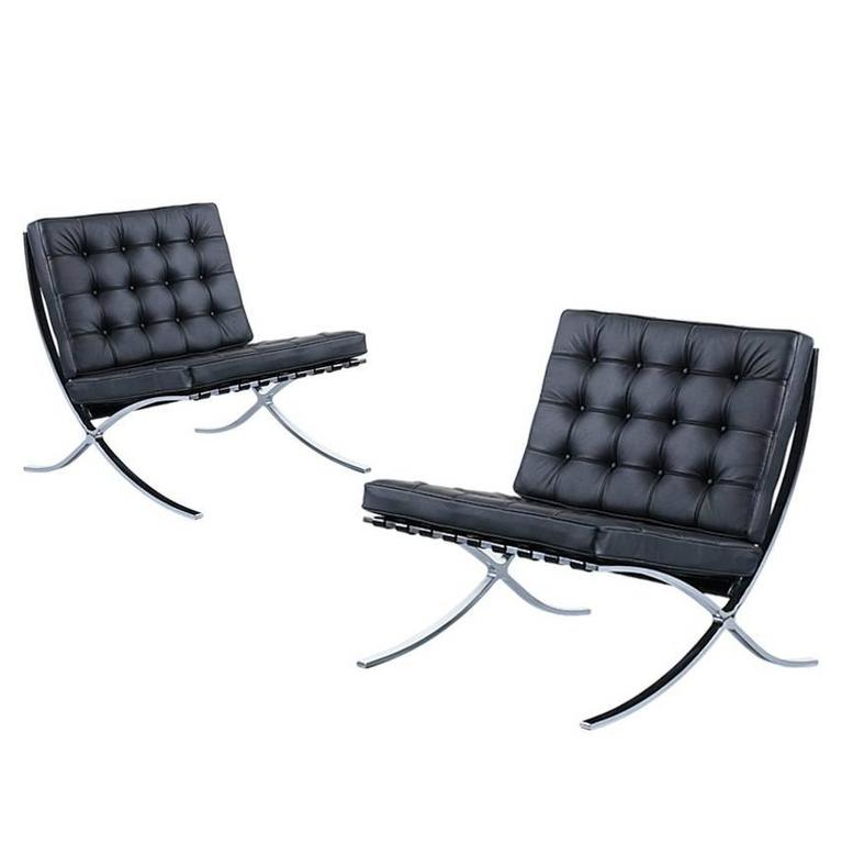 original ludwig mies van der rohe barcelona chairs for knoll for sale at 1stdibs. Black Bedroom Furniture Sets. Home Design Ideas