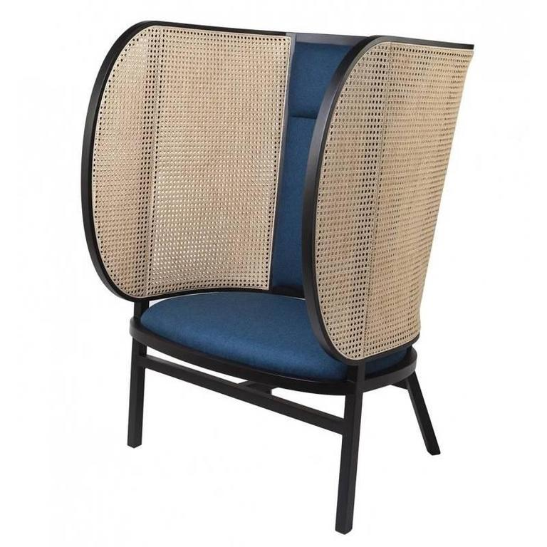 Hideout Lounge Chair, Contemporary Woven Cane Lounge Chair For Sale