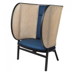 Hideout Lounge Chair, Contemporary Woven Cane Lounge Chair