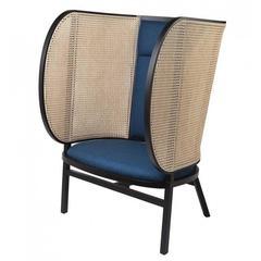 Zeitgenössischer Loungesessel aus Korbgeflecht