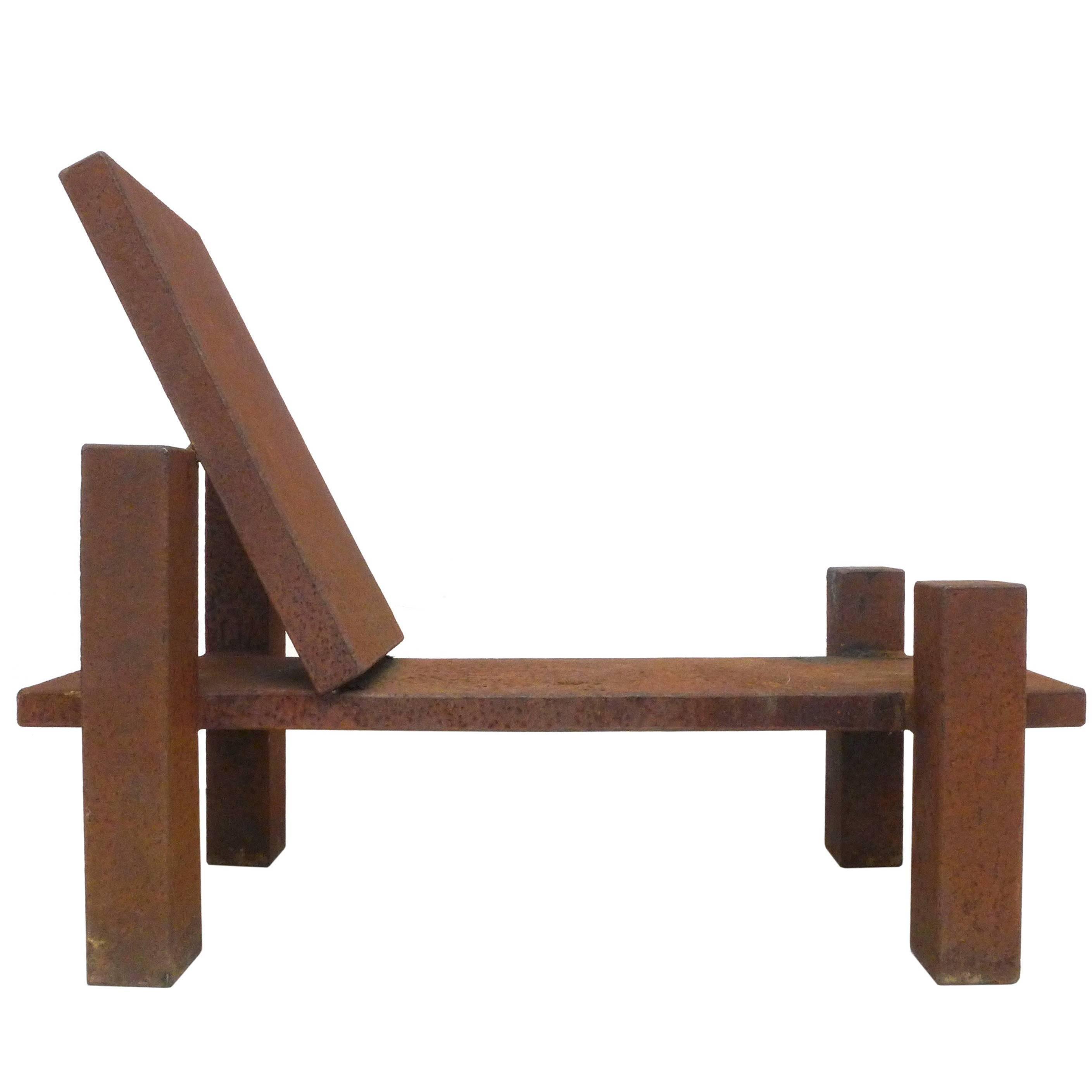 Modernist Steel Low Lounge Chair