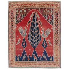 Early 20th Century Red Caucasian Karabagh Rug
