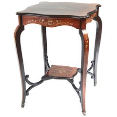 Quality Inlaid Rosewood Occasional Table