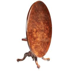 Oval Burr Walnut Centre Table