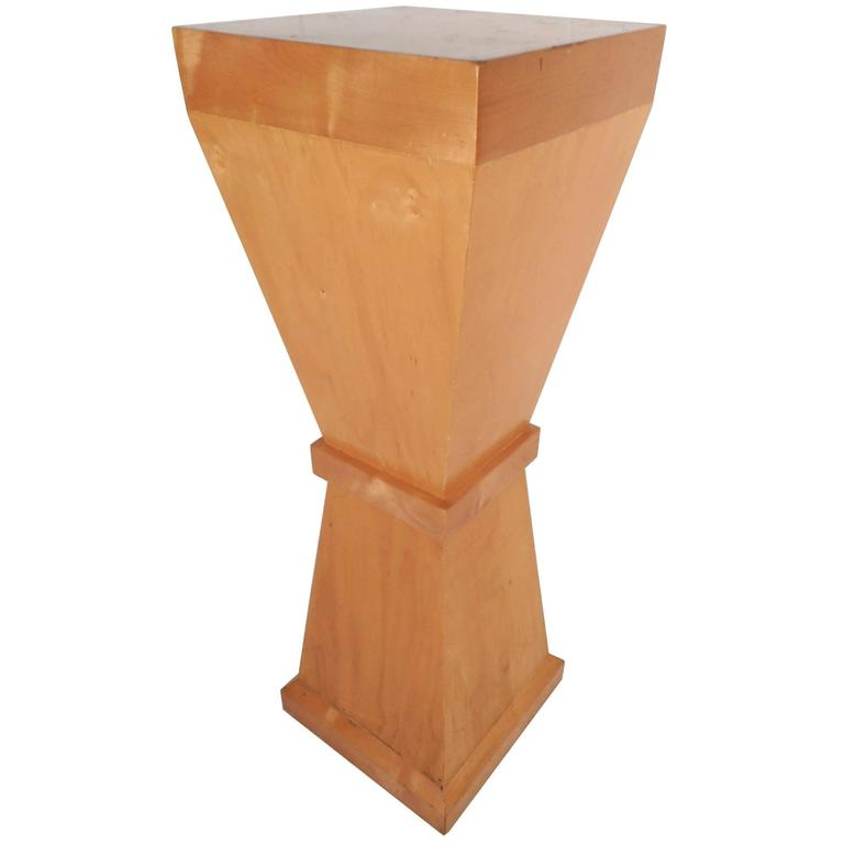 Tall Mid Century Modern Pedestal Table For Sale At 1stdibs