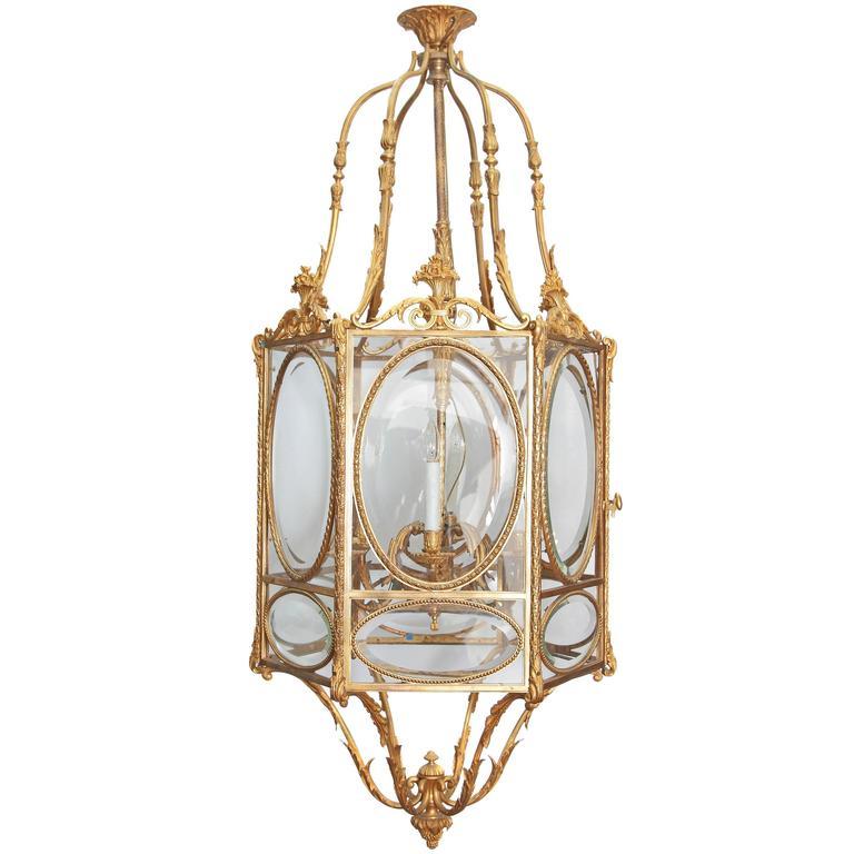 Louis XVI Style Hexagonal Ormolu Lantern 1