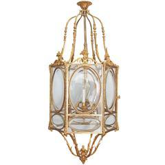 Louis XVI Style Hexagonal Ormolu Lantern
