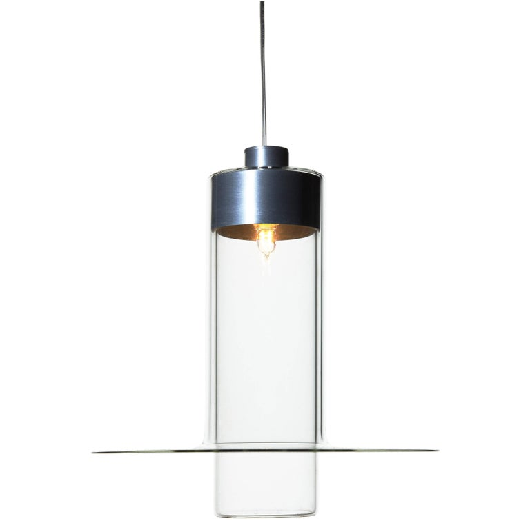 Sleeve Large by John Pawson, Handmade Glass Cylinder, Contemporary Design For Sale