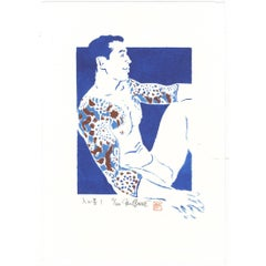 Paul Binnie Ukiyo-E Japanese Woodblock Print, 20th Century Tattoo