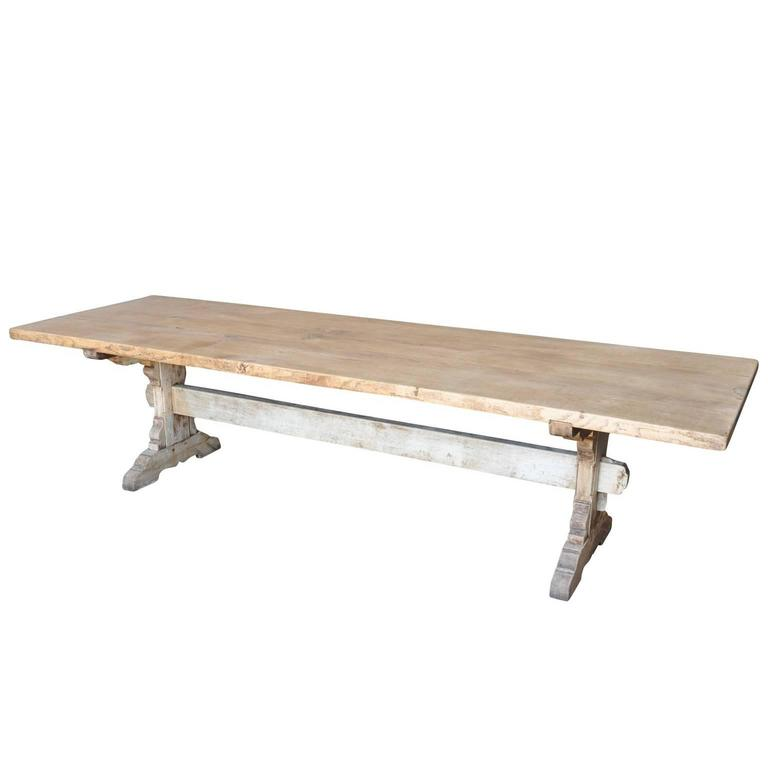 Grand Scale Trestle Table from Spain at 1stdibs : T32893orgl from www.1stdibs.com size 768 x 768 jpeg 16kB