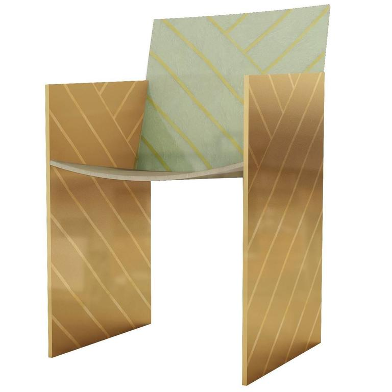 Nesso Dining Chair Mint by Matteo Cibic for Scarlet Splendour For Sale