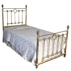 vintage good quality brass twin size bed frame