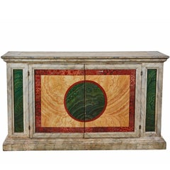 Striking, Hand-Painted, Tuscan Buffet