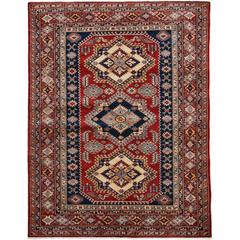 Red Kazak Style Area Rug