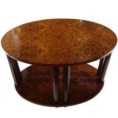 Oval Mahogany Side Table, France, 1940s
