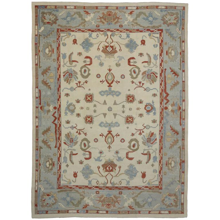 Modern Oushak Rug: Contemporary Turkish Oushak Rug With Modern Style And