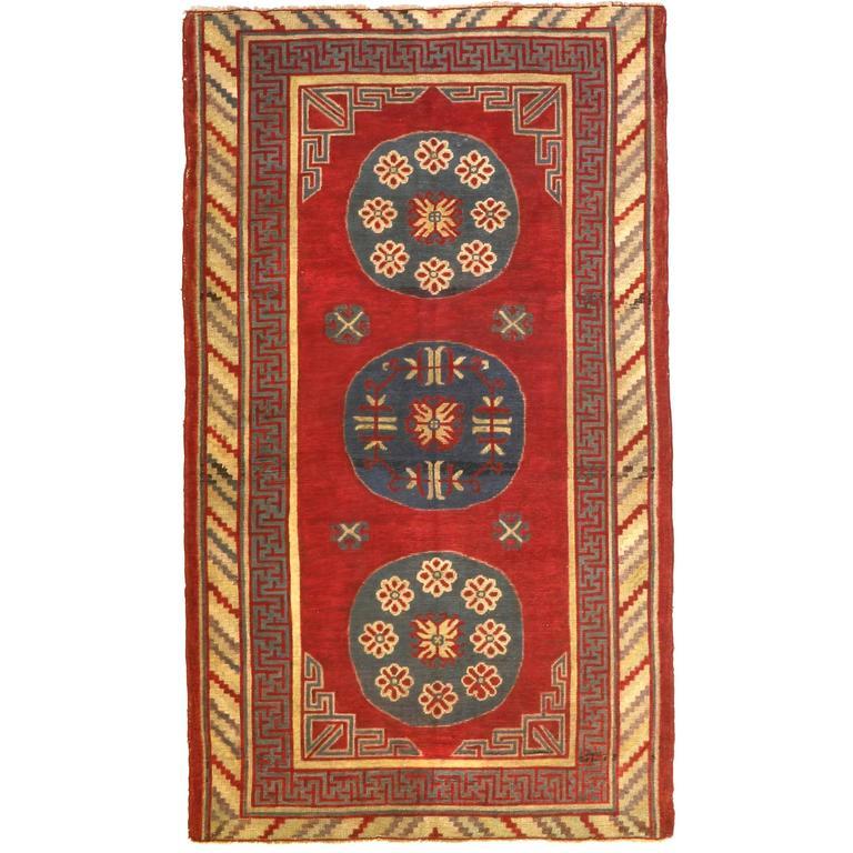 Antique Samarkand Rug, circa 1900s For Sale
