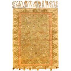 Antique Turkish Silk Kaiseri Rug, circa 1880s