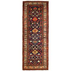 Antique Caucasian Kazak Runner, circa 1870s