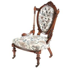 Victorian Walnut Ladies Chair