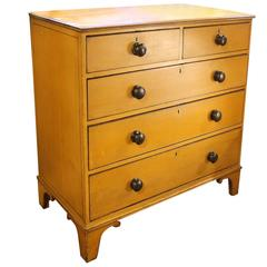19th Century English Painted Pine Chest of Drawers