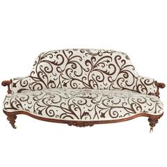 Outstanding Quality Victorian Carved Walnut Sofa
