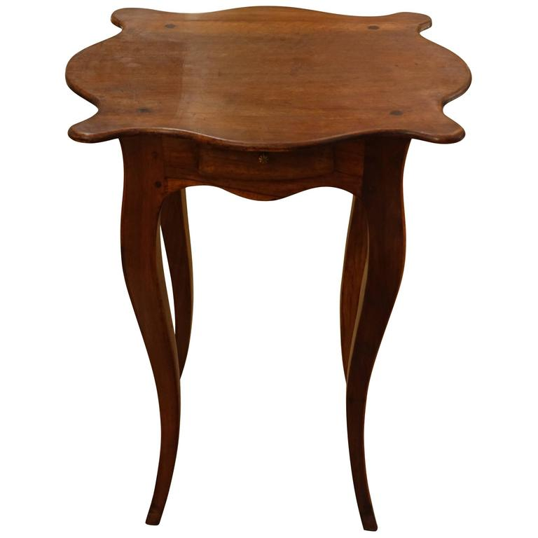 19th Century Walnut Cocktail Table, France